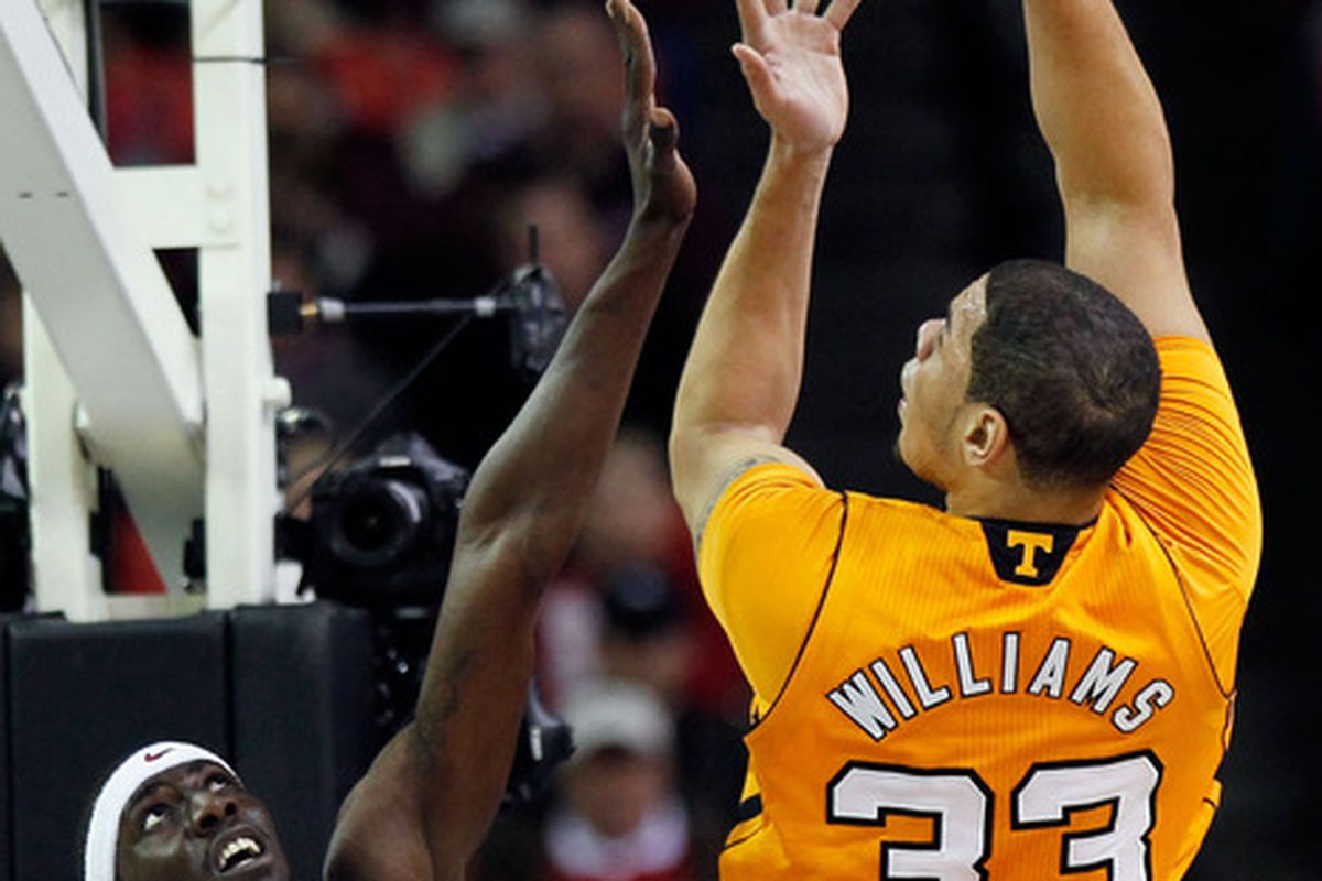 He may have missed Senior Day, but Brian Williams certainly made an impact in his final SEC Tournament tonight.