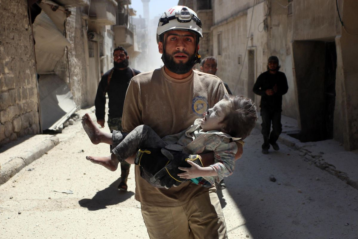 A member of the Syria Civil Defense in The White Helmets, nominated for Best Documentary Short at the Oscars on February 26.
