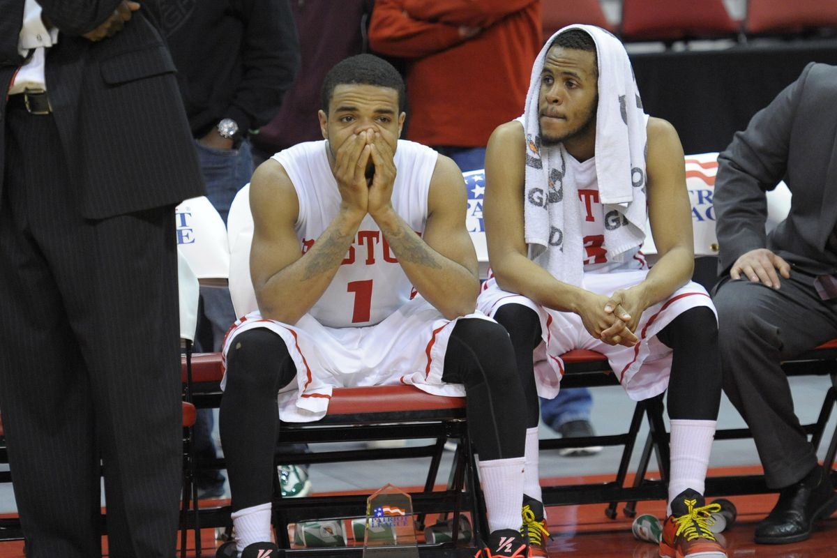 The last image of Mo Watson as a Terrier is one of disappointment and defeat.
