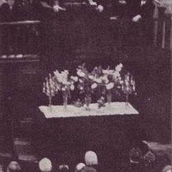 Elder Ezra Taft Benson giving a sermon in Moscow.