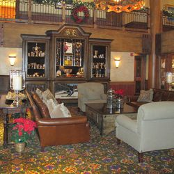 Famed Norwegian skier and hotel namesake Stein Eriksen's Olympic medals are displayed in the lobby of the Stein Eriksen Lodge in Park City. They'll soon have to share space with the world's best ski hotel trophy bestowed on the property at the World Ski Awards.