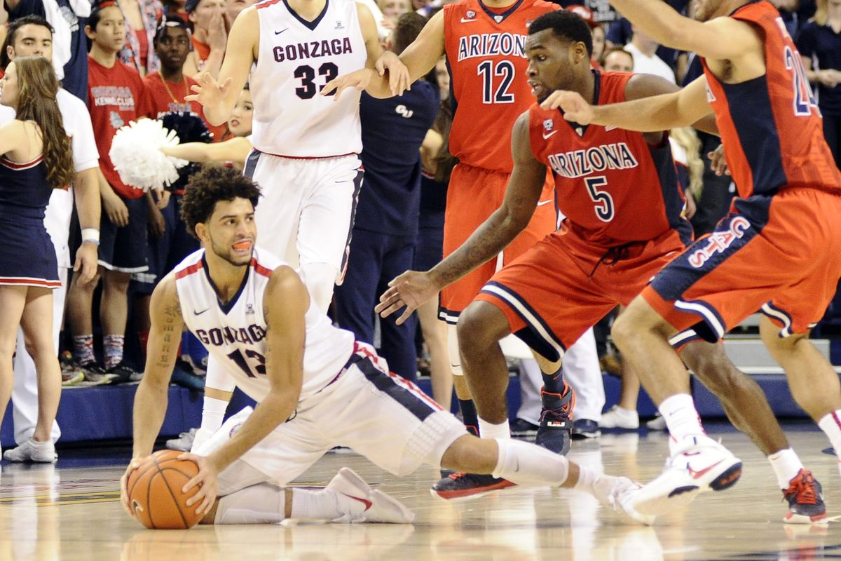 Josh Perkins travelling with the ball against Arizona.