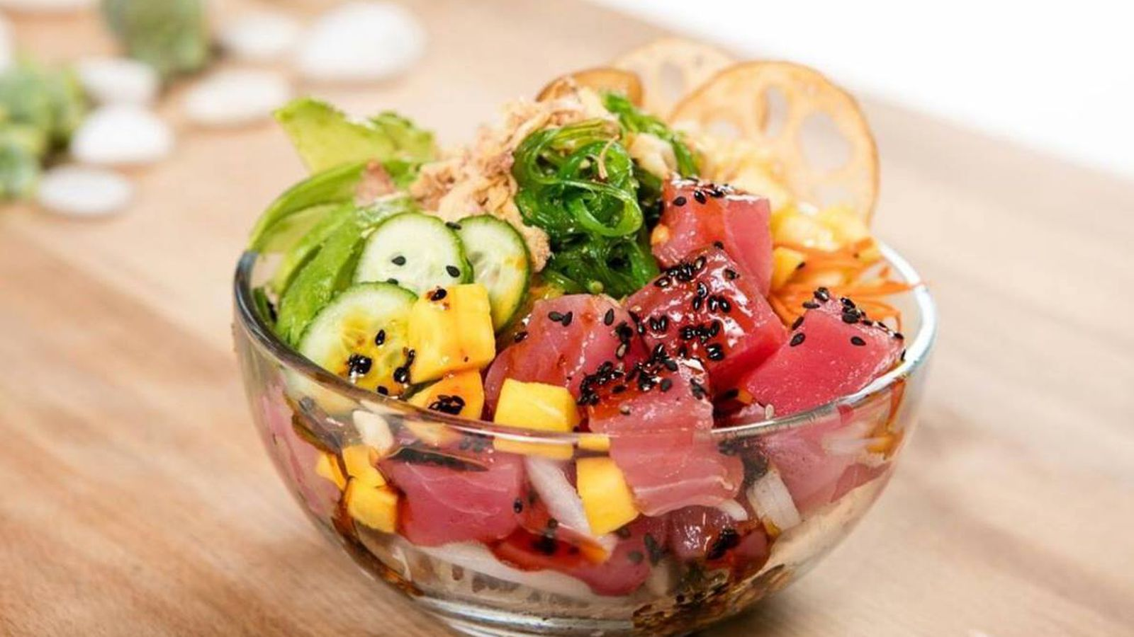 Two locations of big fish little fish poke are swimming for Little fish menu