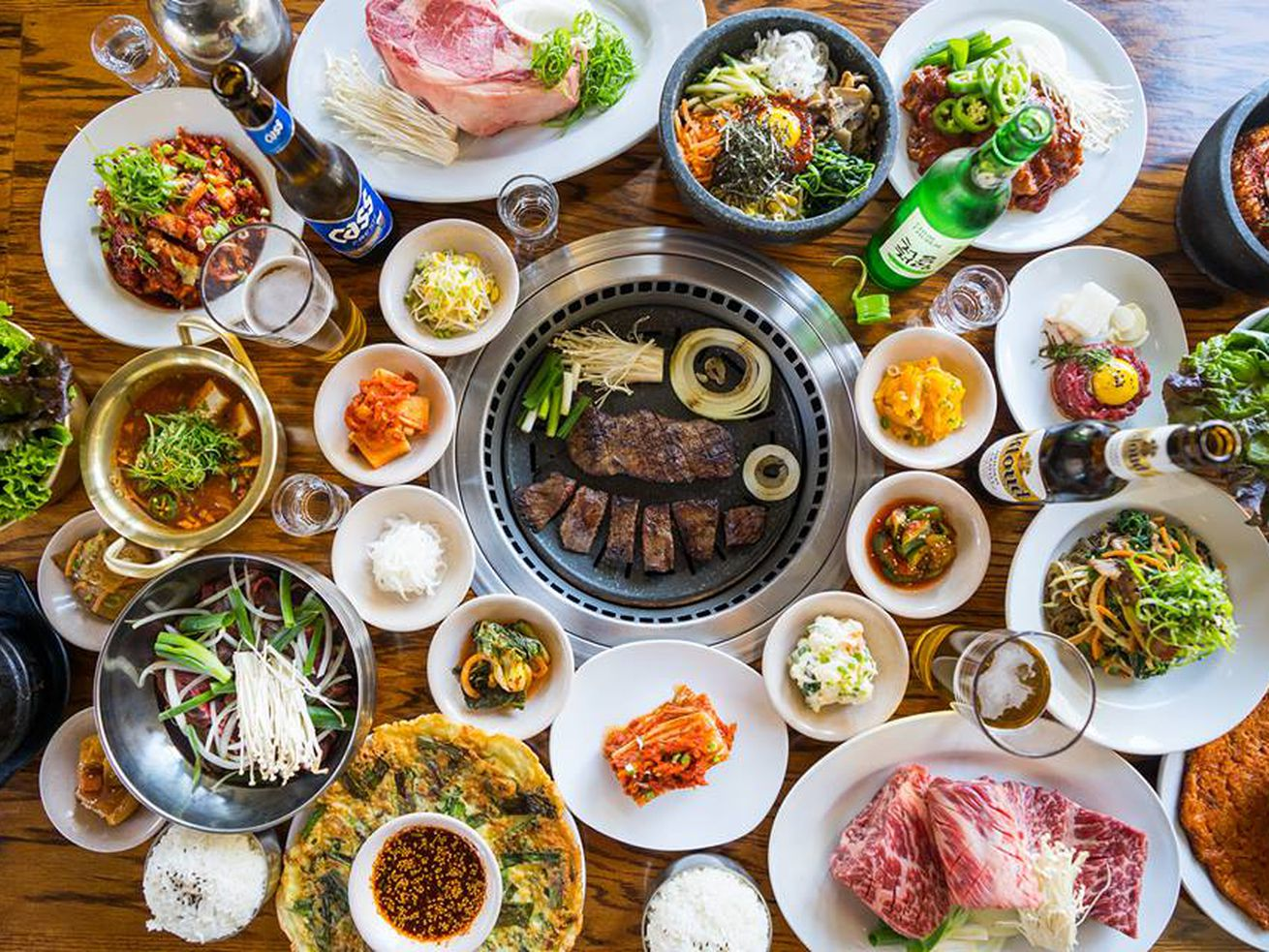 Korean barbecue is an excellent hangover cure.
