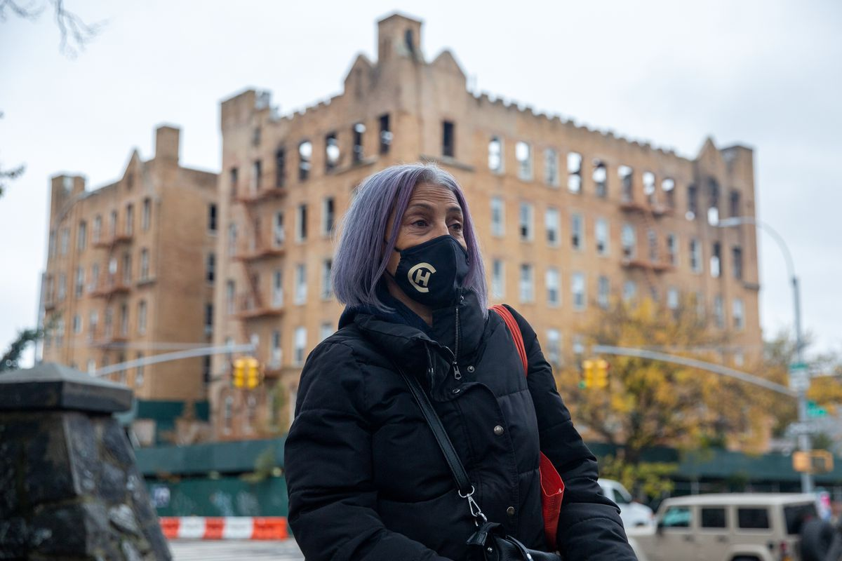 Marcela Salazar has been out of her affordable Sunset Park apartment since April 2019 when the building was destroyed in a fire.