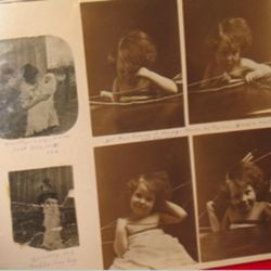 This photo album was one of the family history items that was rescued by a neighbor after being thrown out.