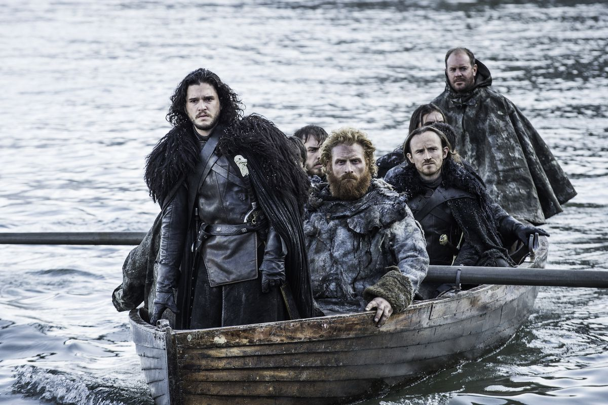 Jon just barely escapes a massive battle in the latest Game of Thrones. (HBO)