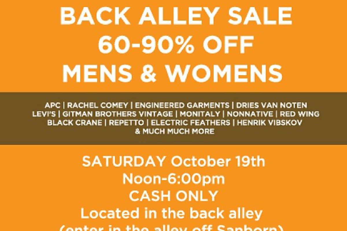 82136a7c5 Mohawk General Store's Huge Saturday Sale Will Be in an Alley ...