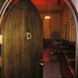 The entrance to the Moorish lodge room.