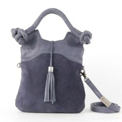 <b>Foley + Corinna</b> Suede Mini City Handbag in Dusk, $95 (originally $250)