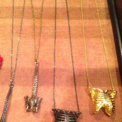Lillian Crowe ribcage necklaces, $83