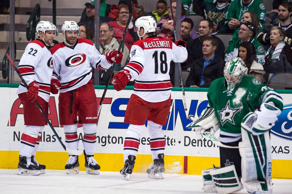 The Hurricanes got goals up and down the lineup in their 6-4 win in Dallas.