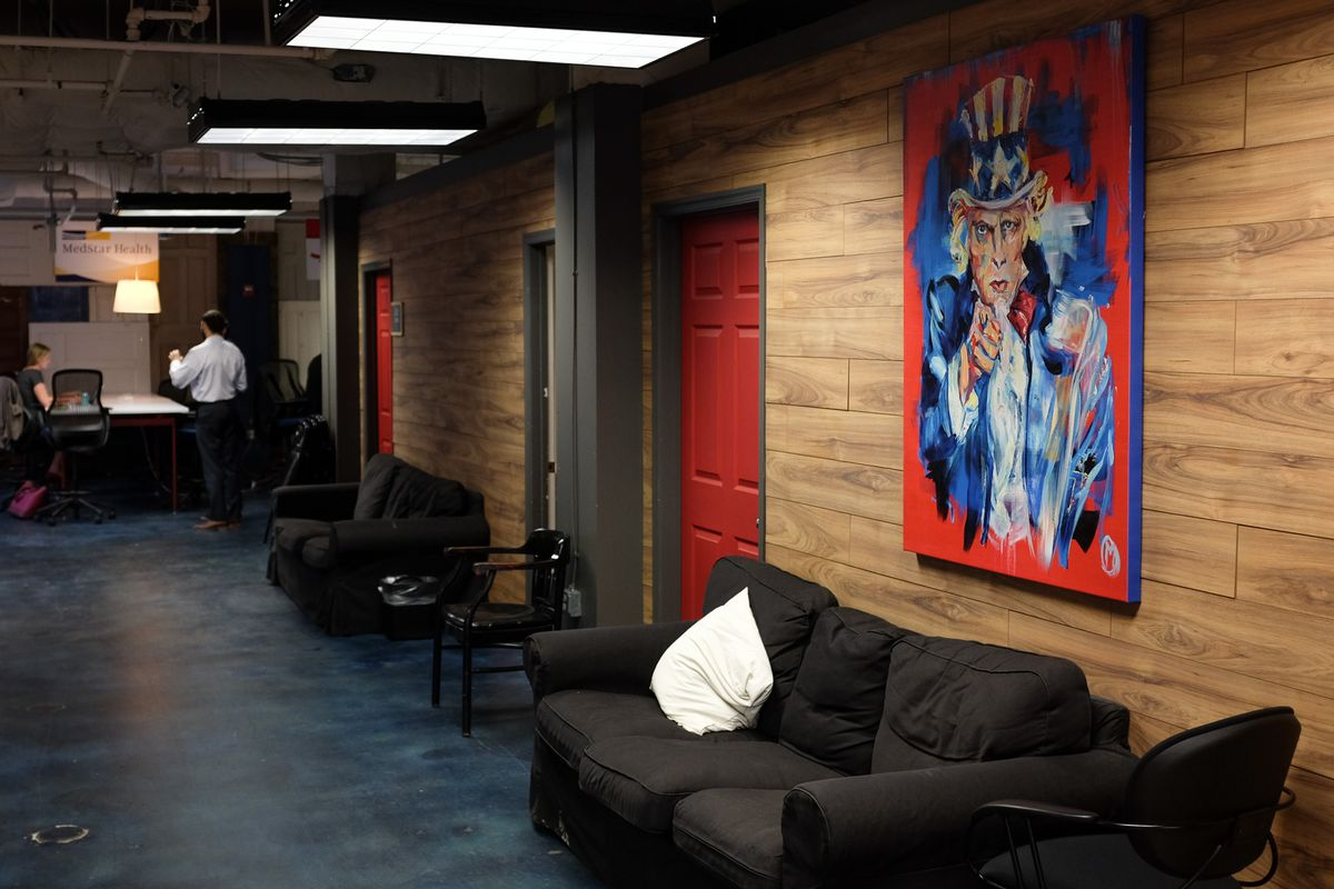 Outside the private conference rooms at 1776's downtown D.C. headquarters.