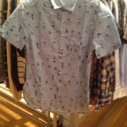 Short sleeved button down, $45