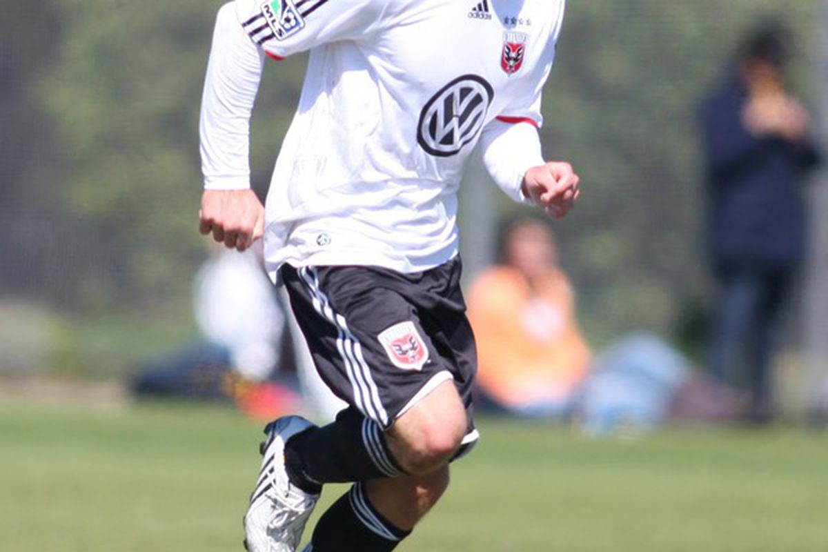 """Morsink on trial (via <a href=""""http://twitpic.com/photos/dcunited"""">DC United's twitpic page</a>)"""