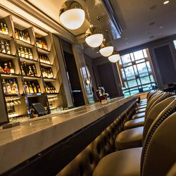 The bar at the newly revamped Bar Margot.
