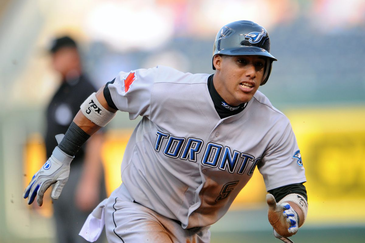 Yunel Escobar.(Photo by G. Newman Lowrance/Getty Images)