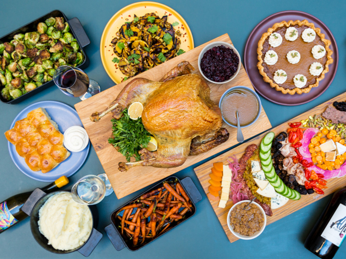 """""""South American-ish"""" restaurant Mercy Me has options for cider-brined turkeys, charcuterie- and cheese-packed picada boards, and roasted Brussels sprouts with Chilean smoked pepper"""
