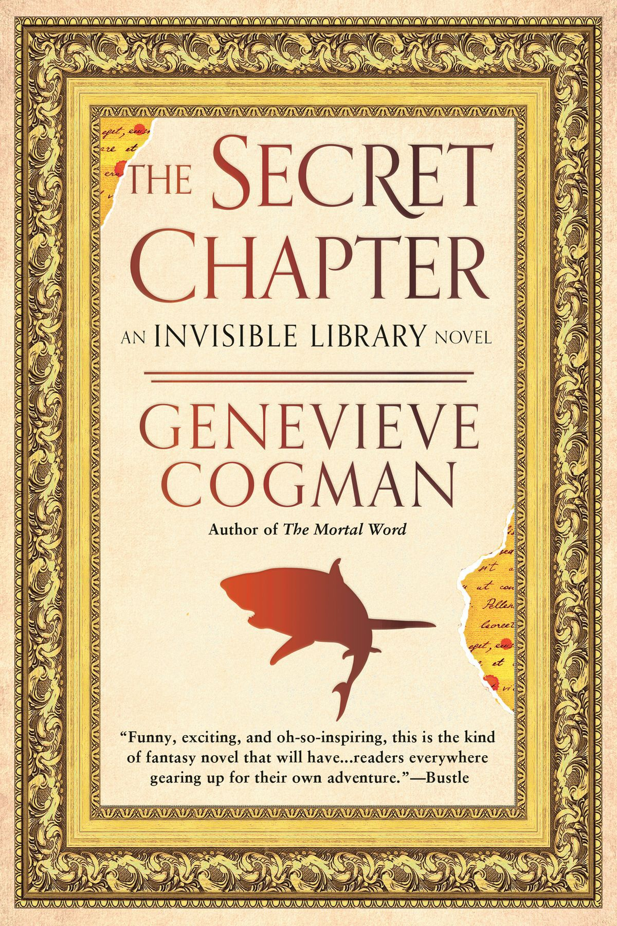 the secret chapter cover with a shark shadow