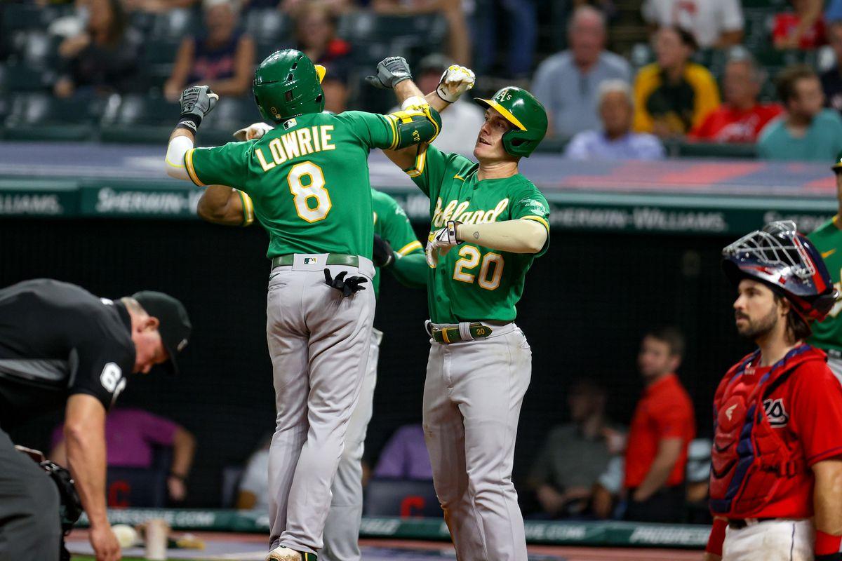 MLB: AUG 11 Athletics at Indians
