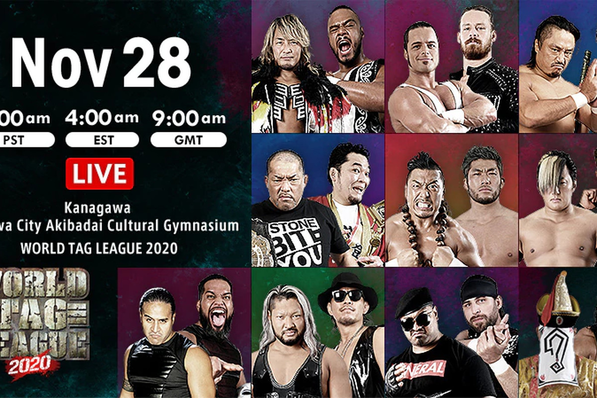 Lineup graphic for night ten of NJPW World Tag League 2020