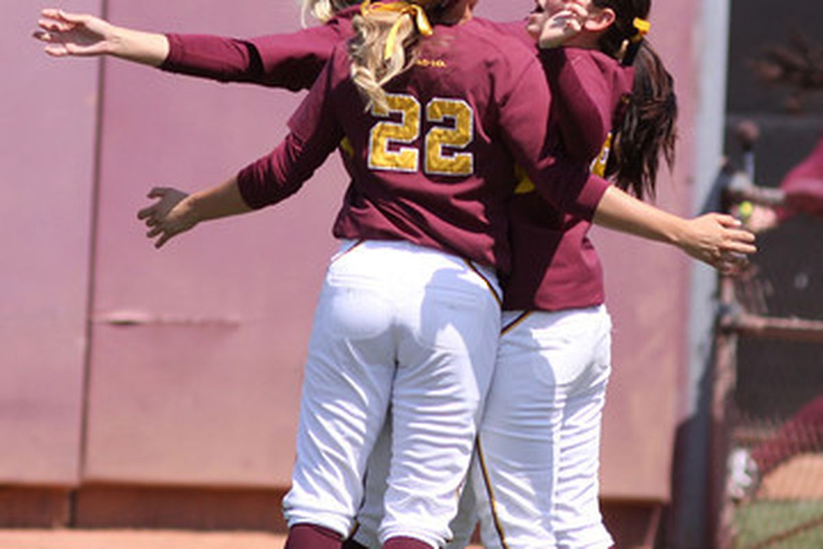 The Sun Devils celebrate during the Regional on May 22, 2011. Photo courtesy of Steve Rodriguez.