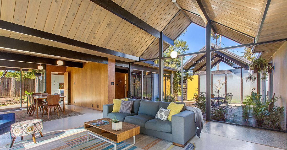 Double A-frame Eichler in Concord for under a million