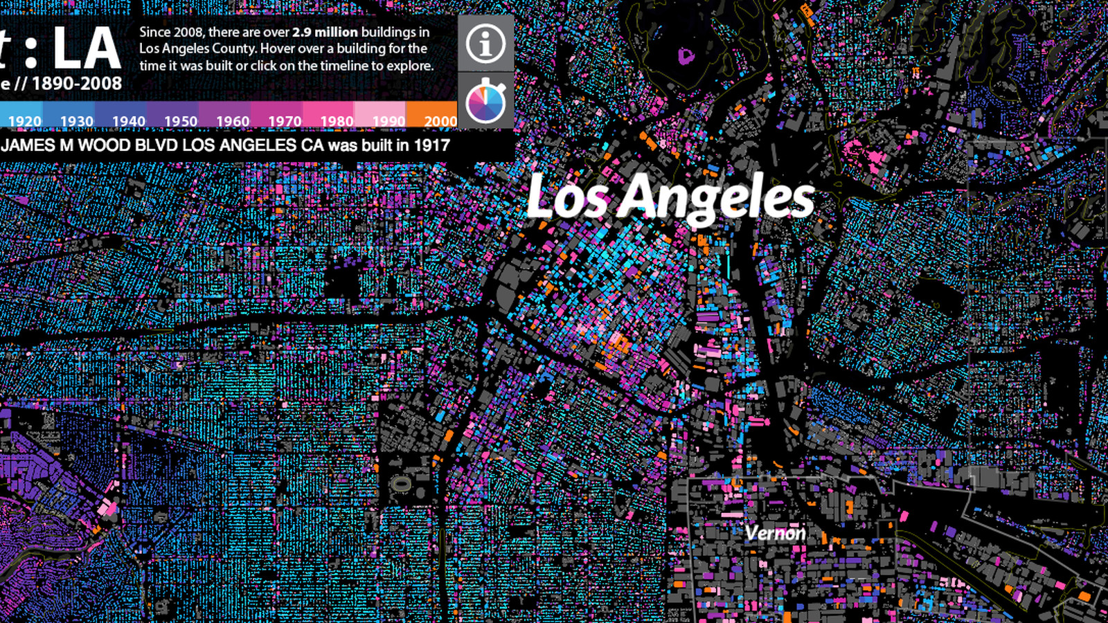 Fantastic Map Dates Every Last Building In Los Angeles Curbed LA - Los angeles assessor map