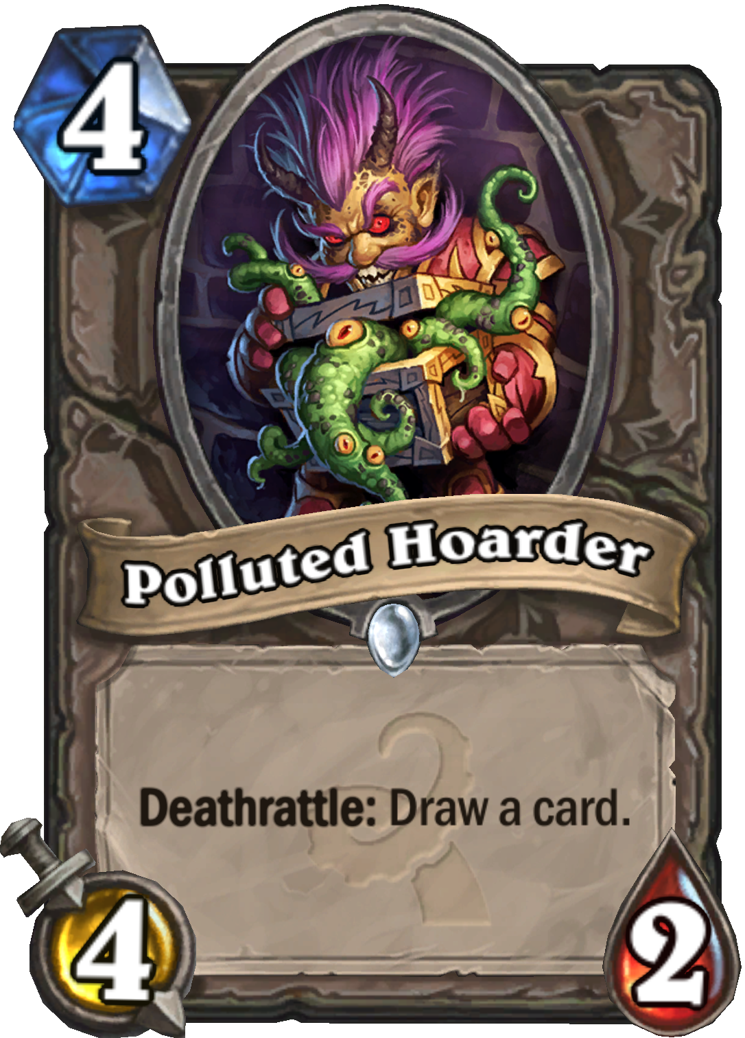 Polluted Hoarder Hearthstone card