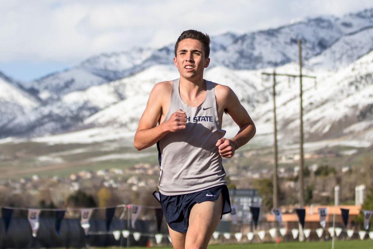 Sophomore distance runner Haydon Cooper.