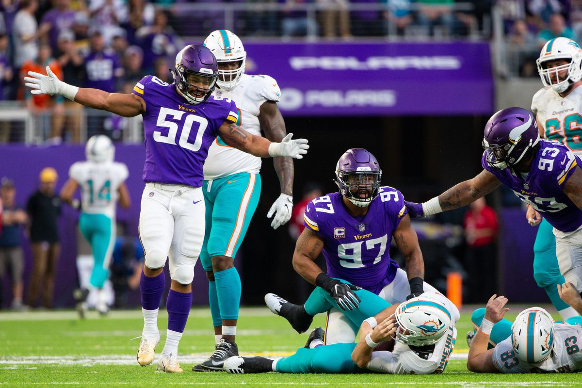 d0229dc2f94 The Vikings defense made Ryan Tannehill's life miserable on Sunday. Brad  Rempel-USA TODAY Sports