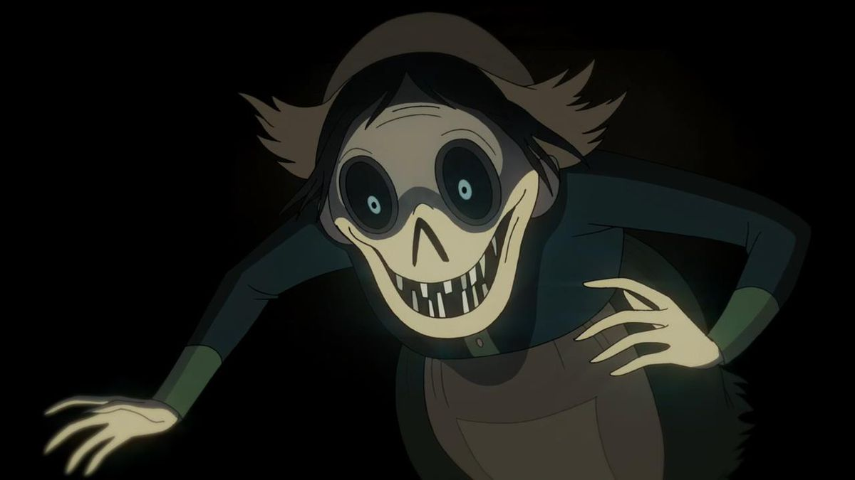 Over the Garden Wall - creepy-faced character from episode 7