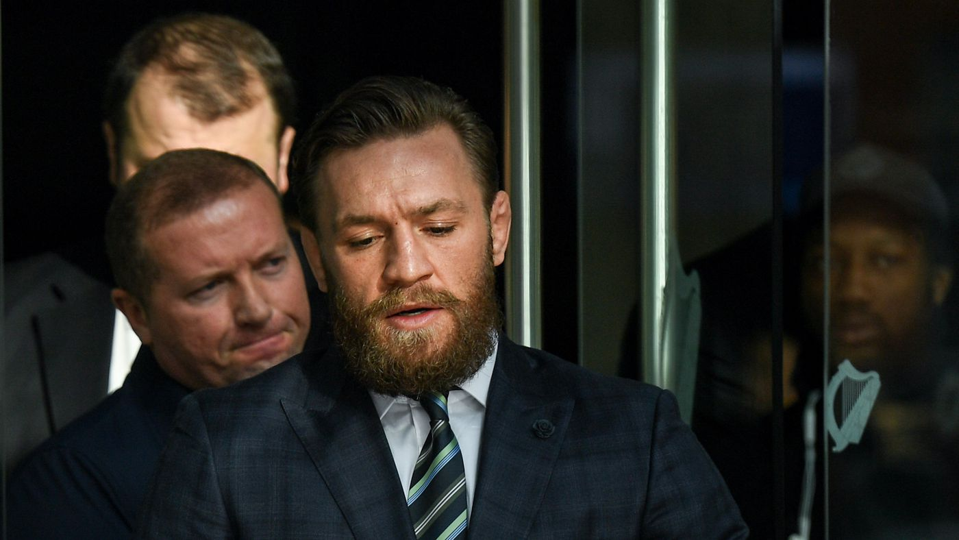 Video: Conor McGregor appears in court to answer for Dublin pub punch, judge adjourns until Nov. 1