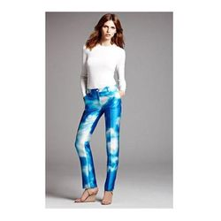 """<b>Michael Kors</b> Digital Print Skinny Shantung Pants in Turquoise/Optic White, $557.98 (on sale from $1,395) at <a href=""""http://shop.nordstrom.com/s/michael-kors-samantha-digital-print-skinny-shantung-pants/3454422?cm_cat=datafeed&cm_ite=michael_kors_'"""