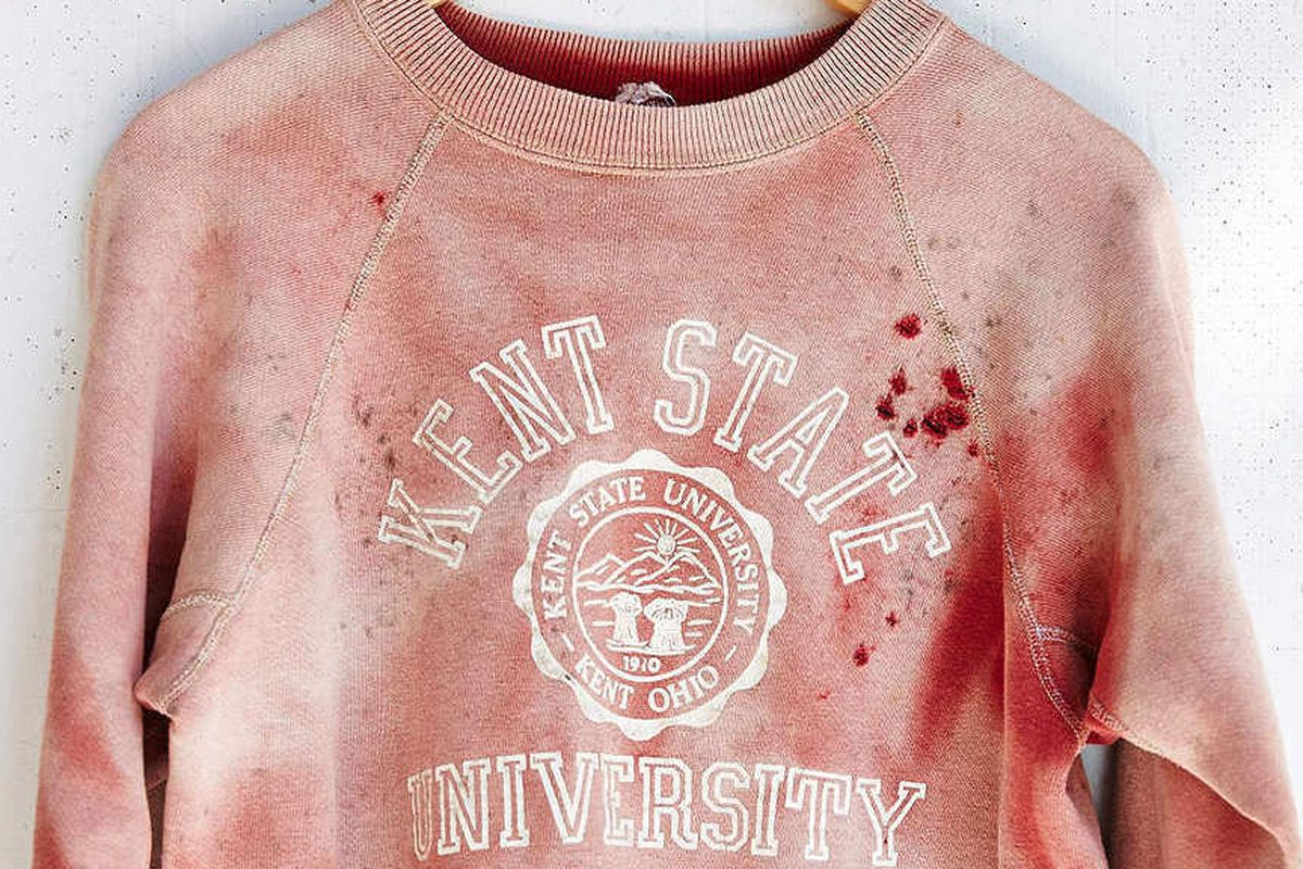 """Image via <a href=""""http://nymag.com/daily/intelligencer/2014/09/urban-outfitters-kent-state-sweatshirt-on-ebay.html"""">NY Mag</a>"""