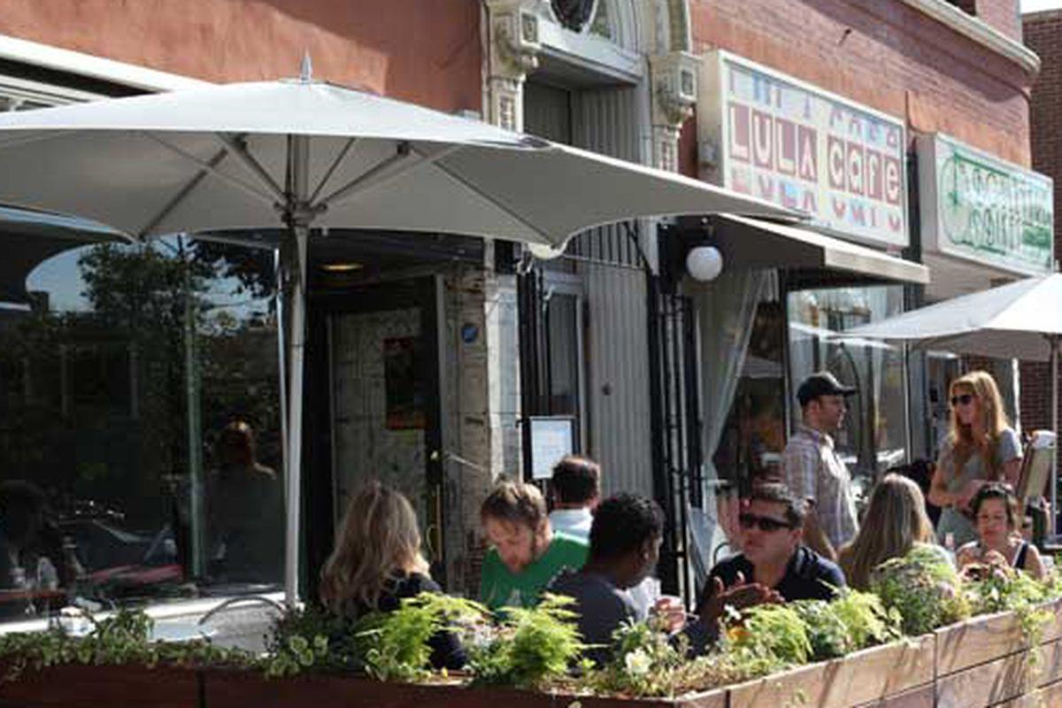 Lula Cafe's patio