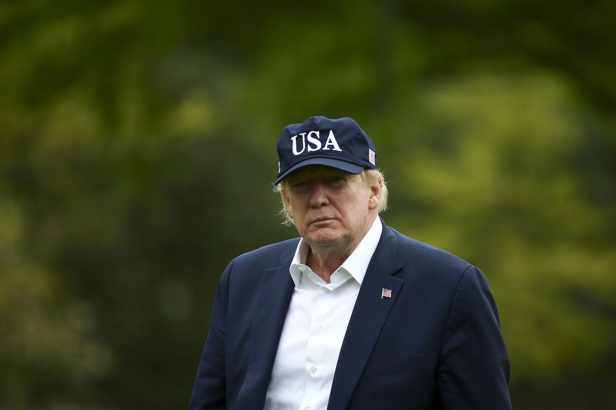 President Trump Returns To White House From Weekend At Camp David