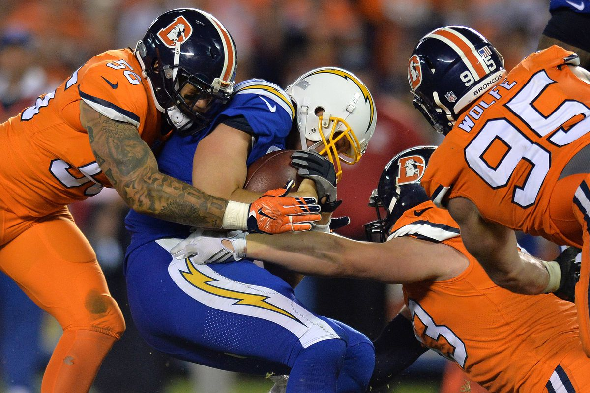 san diego chargers at denver broncos game time tv schedule online