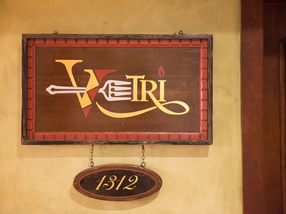 sign that says vetri with 1312 underneath