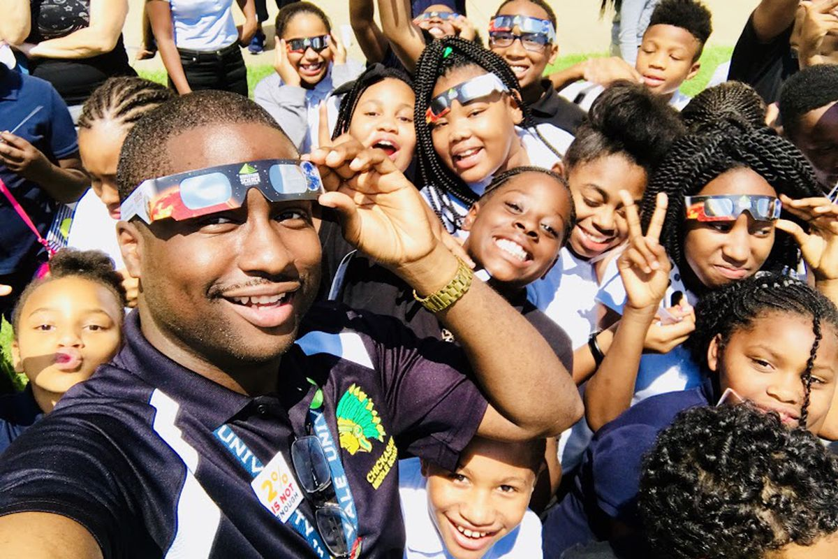 James Johnson teaches 6th-grade science at Chickasaw Middle School in the Memphis neighborhood of Westwood. He was one of five Memphis educators selected by nonprofit New Memphis for its first class of the Educators of Excellence Awards.