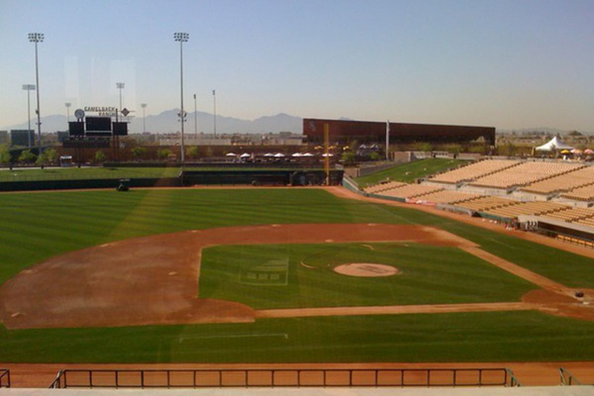 The view from the Camelback Ranch, today a few hours before the game.