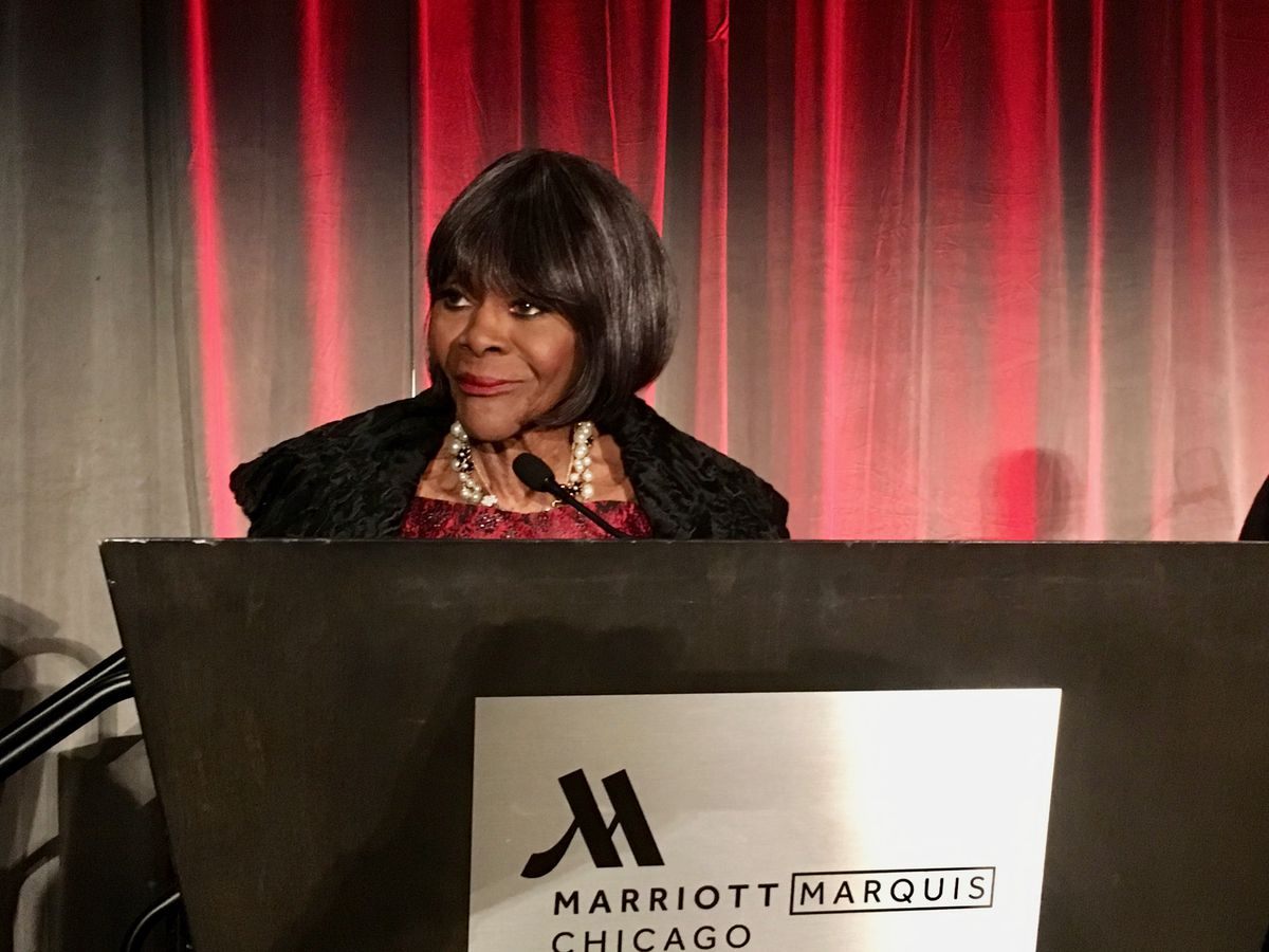The great Emmy and Tony Award winning actress Cicely Tyson shared stories from her life after accepting an award from the DuSable Museum of African American History for her contribution to Black history and culture. The Oct. 12, 2018 event at the Near South Side Marriott Marquis was one of her last visits to Chicago.