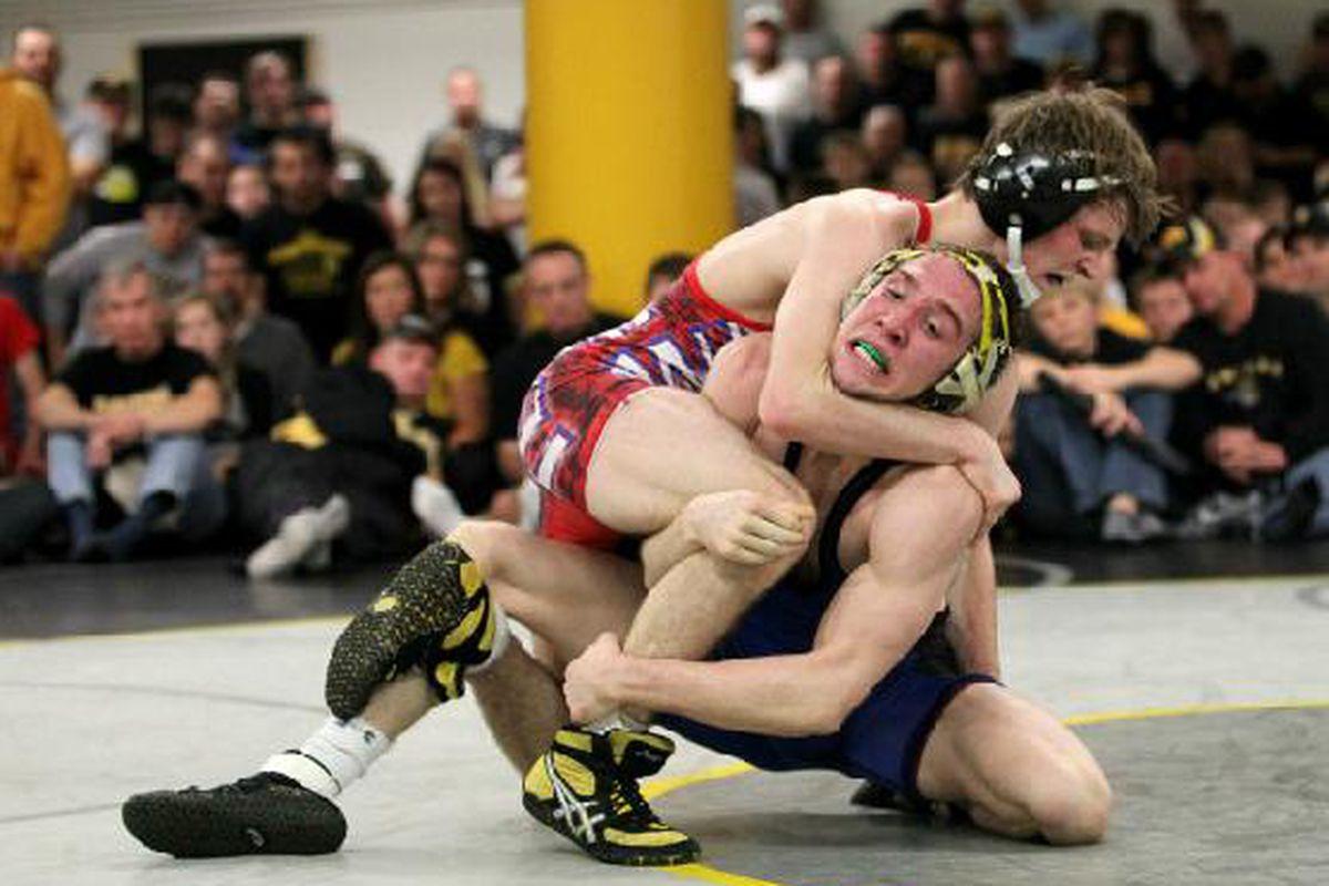 That's Cory Clark wrestling Matt McDonough at the wrestle-offs earlier this season.