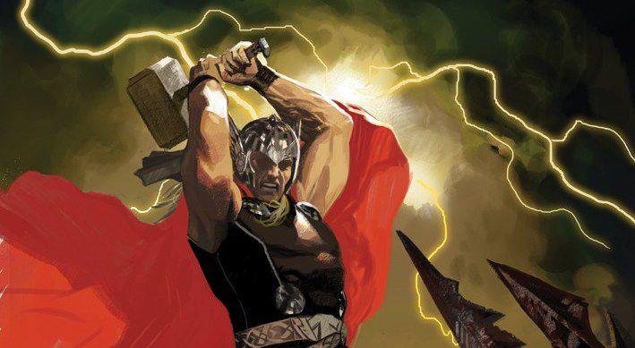 Variant cover of Thor: God of Thunder #1, Marvel Comics (2012).