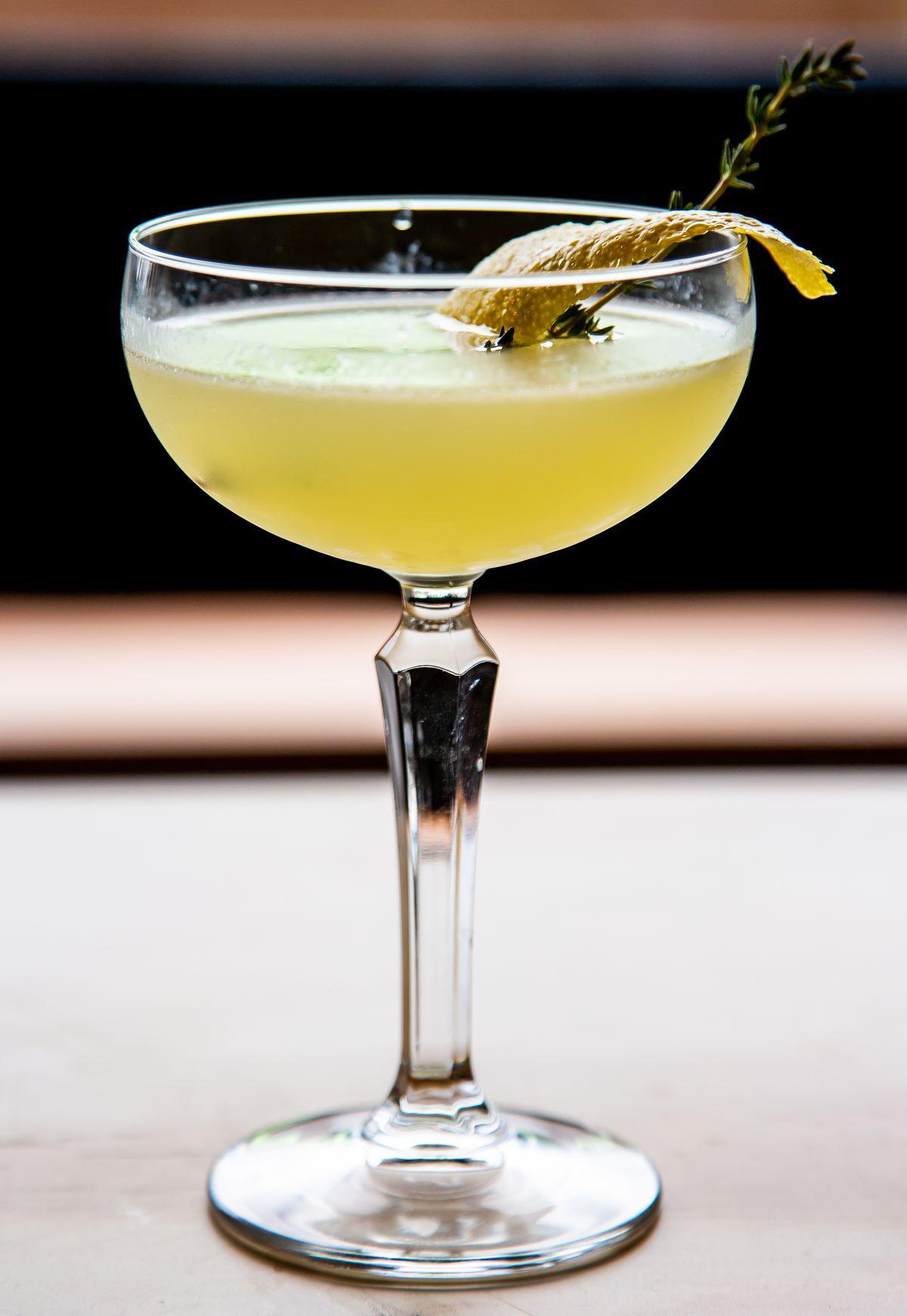 Stately Hag with tequila, strega, Cocchi Americano, and lemon
