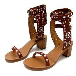 "Isabel Marant Elvis Studded Gladiator Sandal, Price Upon Request at <a href=""http://www.alanbilzerian.com/cart/index.cfm?carttoken=77M9499052813074256&action=ViewDetails&itemid=1530"">Alan Bilzerian</a>."