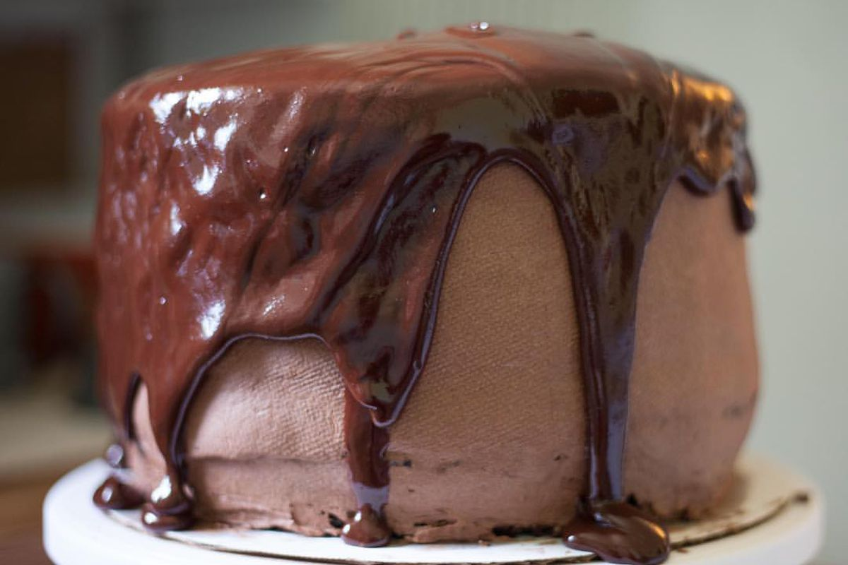 A chocolate fudge cake fromPaper Route Bakery