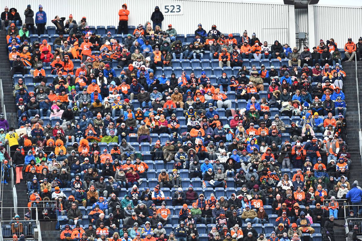 9,131 no shows to Broncos game on Sunday is most since 2010