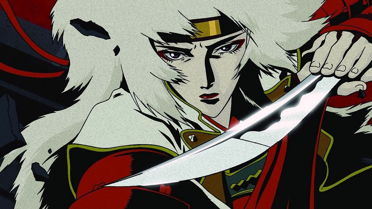 A white-haired woman clutched a broken katana blade between her palms.