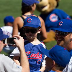 Mike Olt with fans -